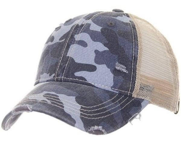 CC CAMO MESH BACK PONYTAIL HAT