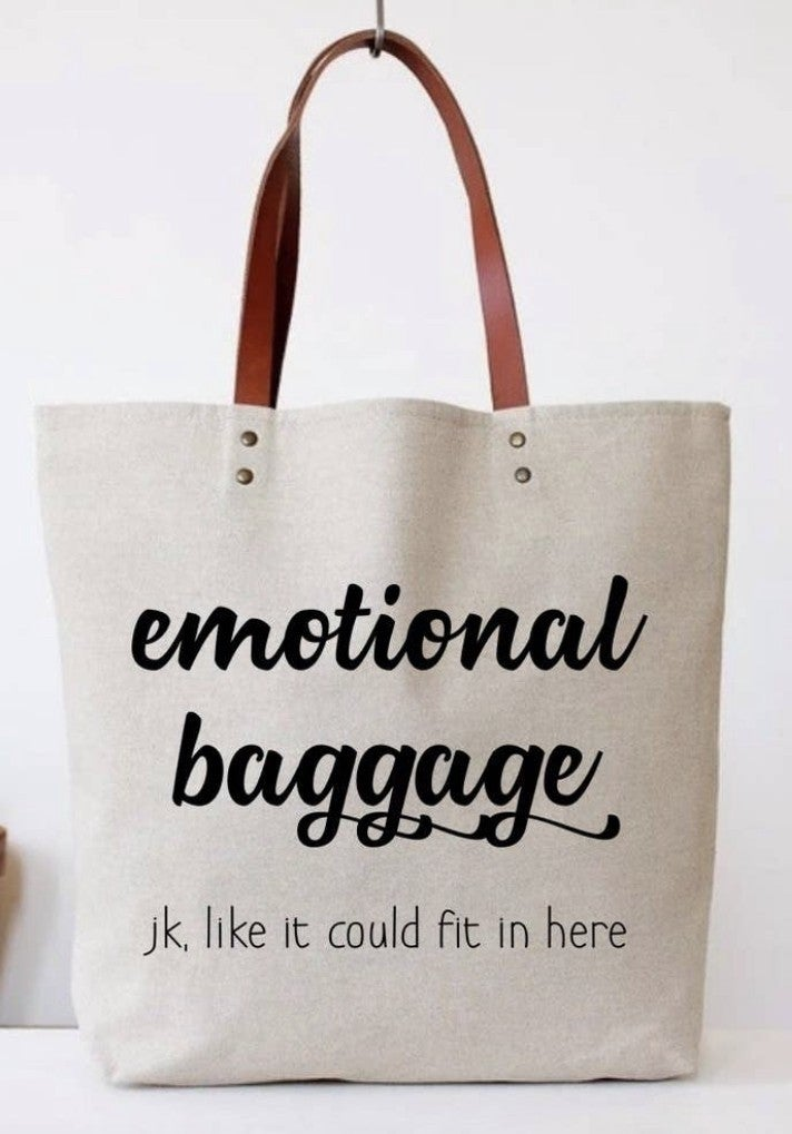 COTTON TOTE BAG WITH FUNNY SAYING
