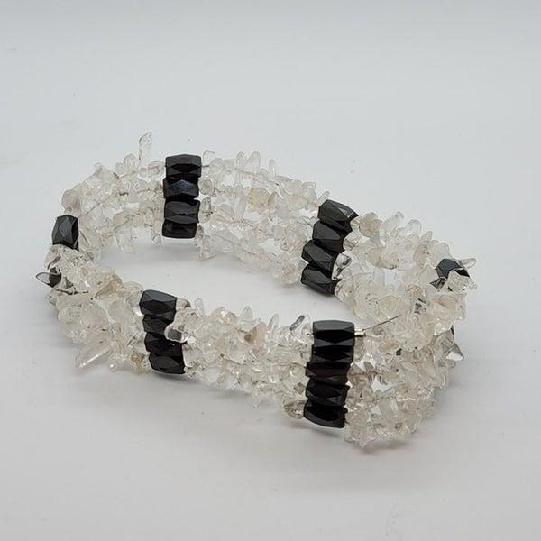Hematite Crystal Quartz Necklace