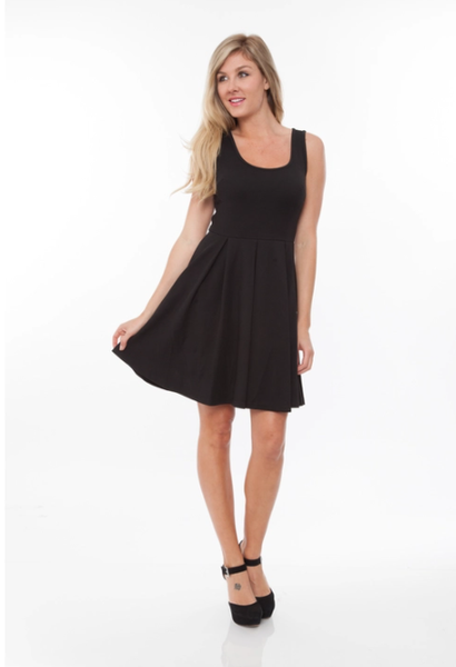 Black Fit and Flare Dress