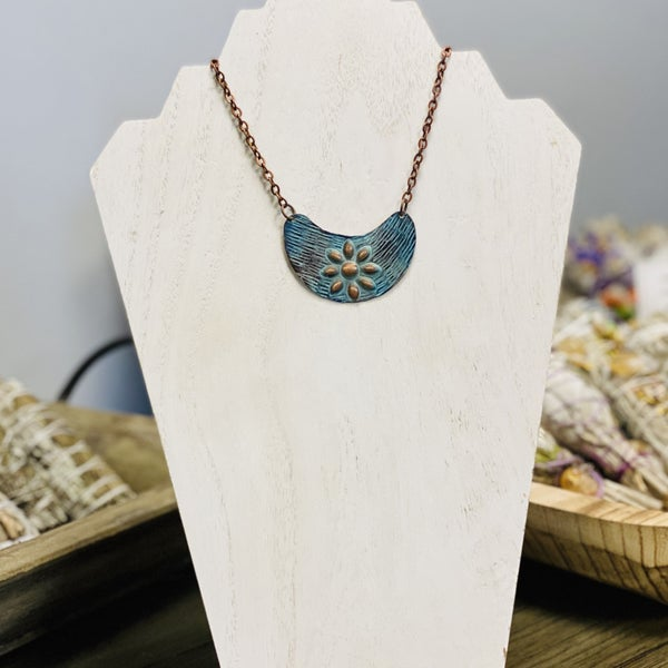 Embossed Patina Necklace 282
