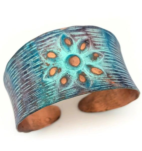 Copper Patina Cuff 282