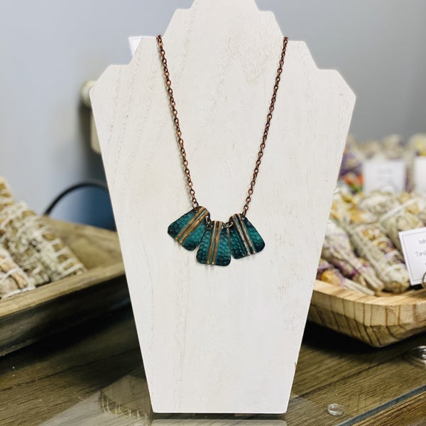 Embossed Patina Necklace 287