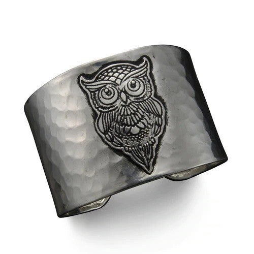 Silver Owl Cuff