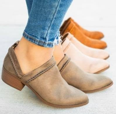 Ankle Booties - Khaki