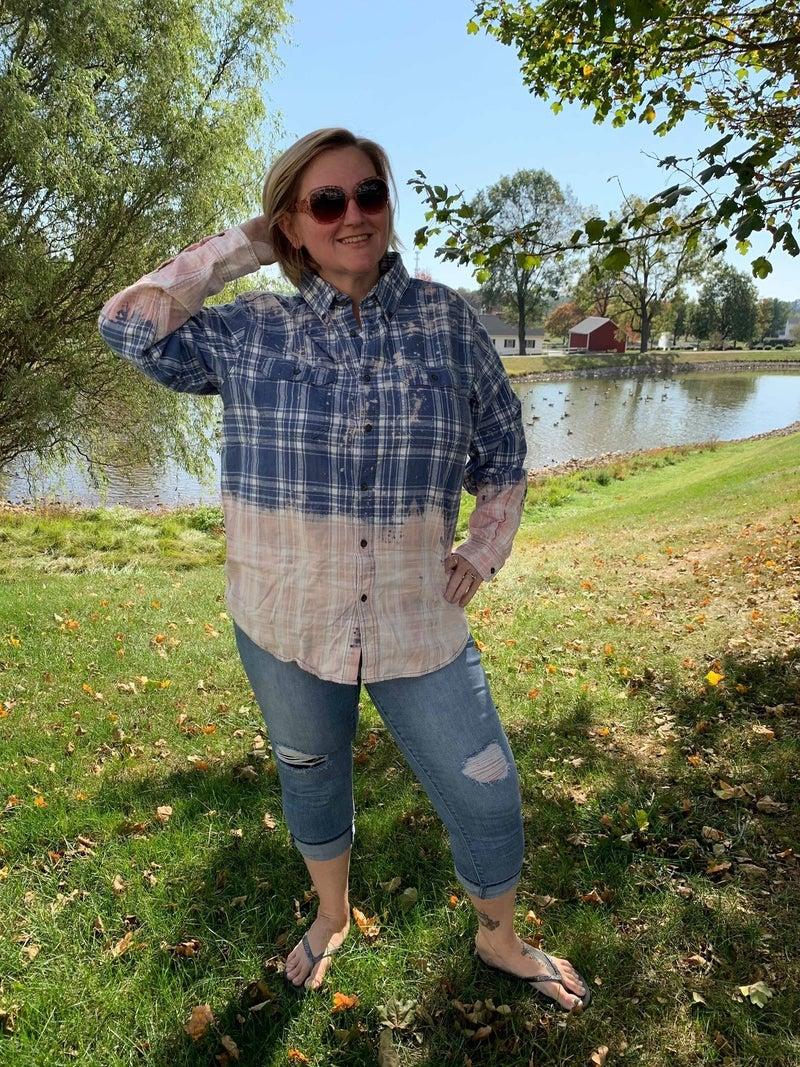 Fall Flannel - Blue Jean Baby