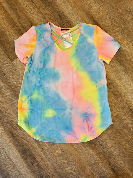 Unicorn Tie Dye Crisscross Top