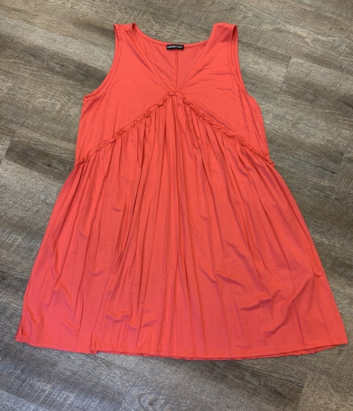 Coral Tunic Dress - Ruffle