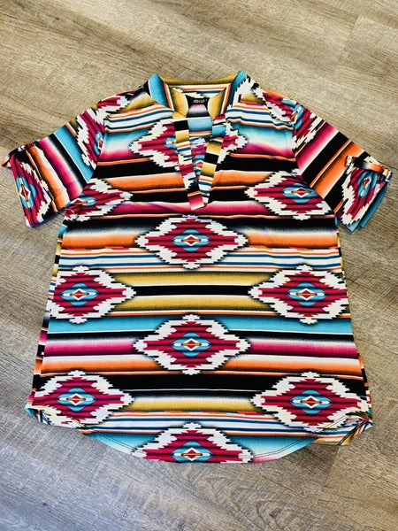 Aztec Print Multi Color