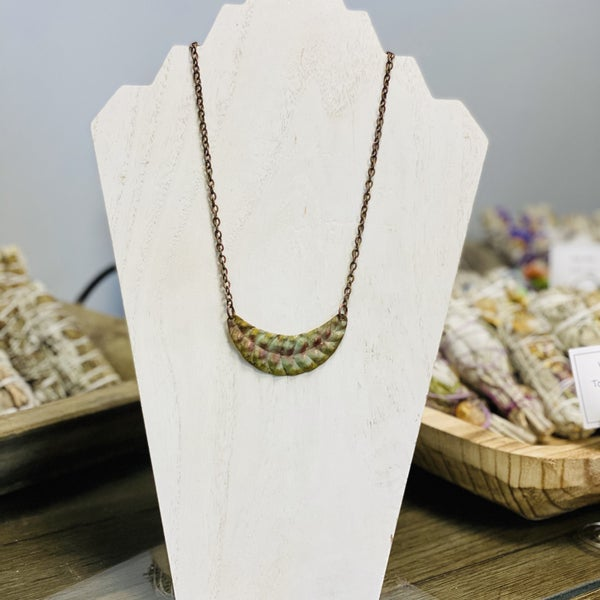 Embossed Patina Necklace 289