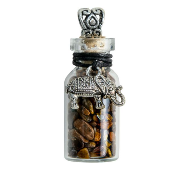 Gemstone Chip Bottle Necklace - Each
