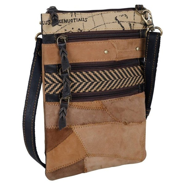 York Crossbody - Upcycled Genuine Leather