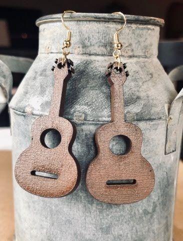 Guitar Wood Earrings