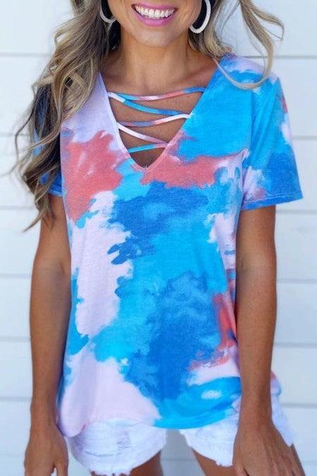 Sky Blue Cage Tie Dye