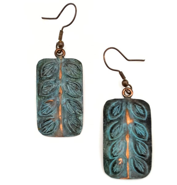 Copper Patina Earring 285