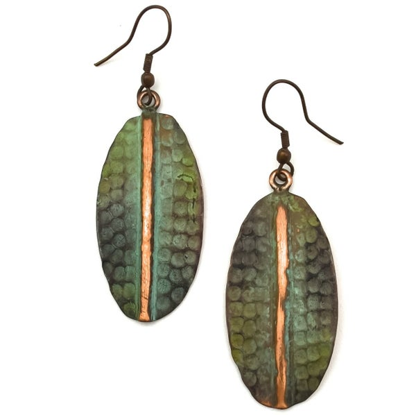 Copper Patina Earring 288