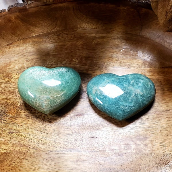 Amazonite Hearts - Medium