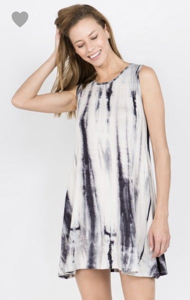 Knit Tie Dye Short Dress