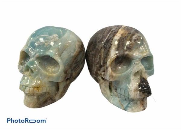 Amazonite Skull - Rare