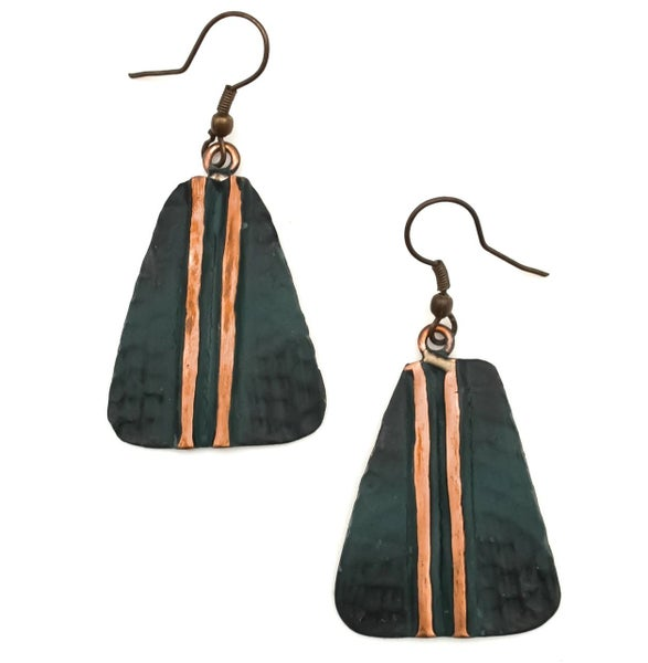 Copper Patina Earring 287
