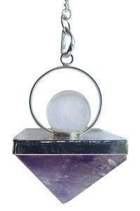Premium Amethyst Pyramid Pendulum
