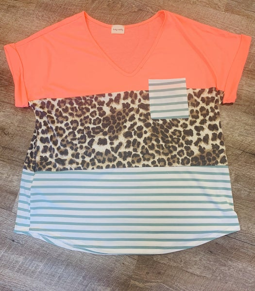 Crazy Leopard Coral with Pocket