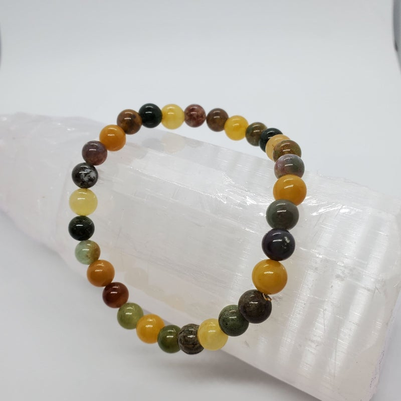 Fancy Jasper / Yellow Jade Bracelets