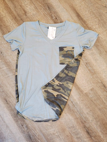 Sage Camo with Pocket Top