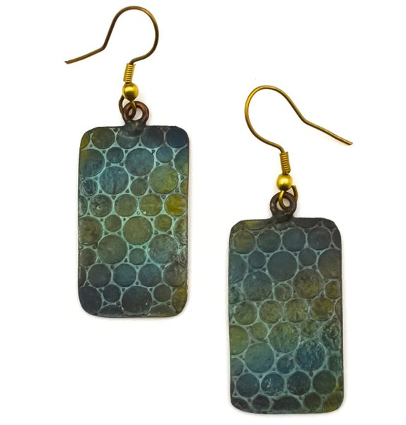 Copper Patina Earring 278