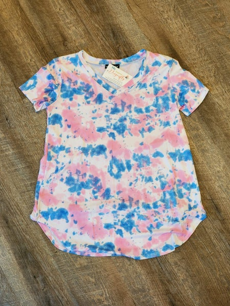 Tie Dye Paints Print Top