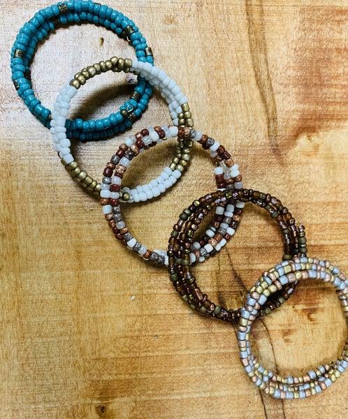 Custom  Bead Wire Wrap Bracelet