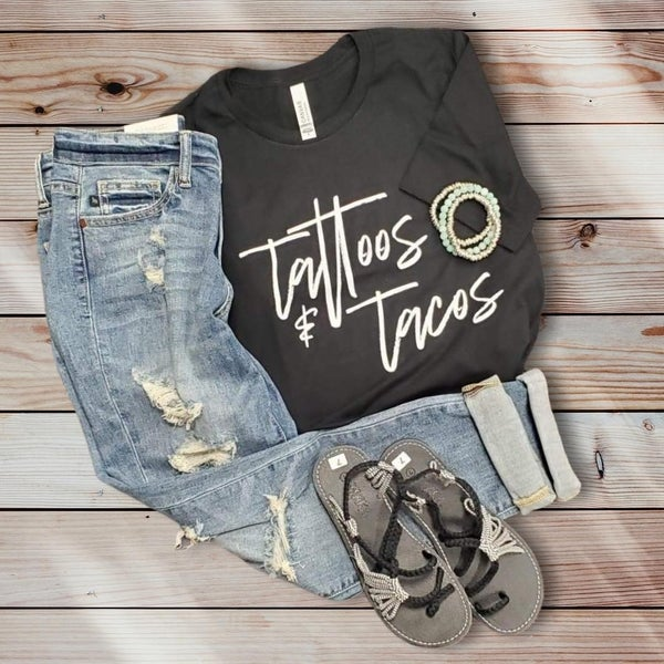 Tattoos And Tacos Graphic T-shirt