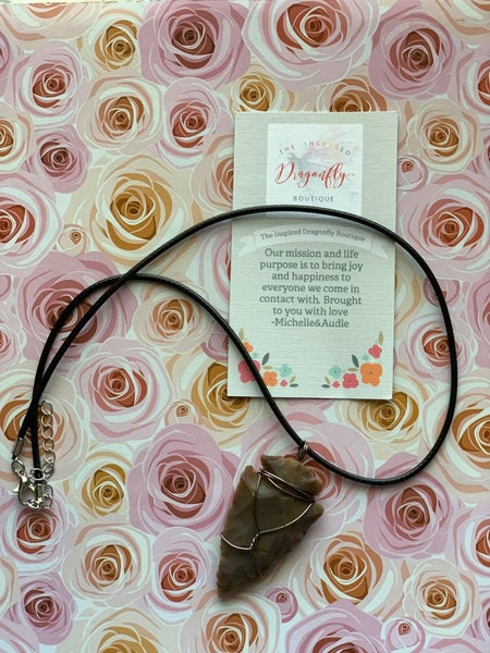 Arrowhead Custom Wrapped Necklace