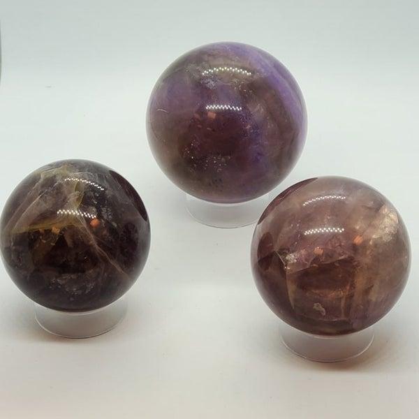 Rainbow Fluorite Spheres - Larger