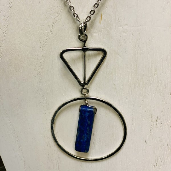 Sodalite Geometry Necklace