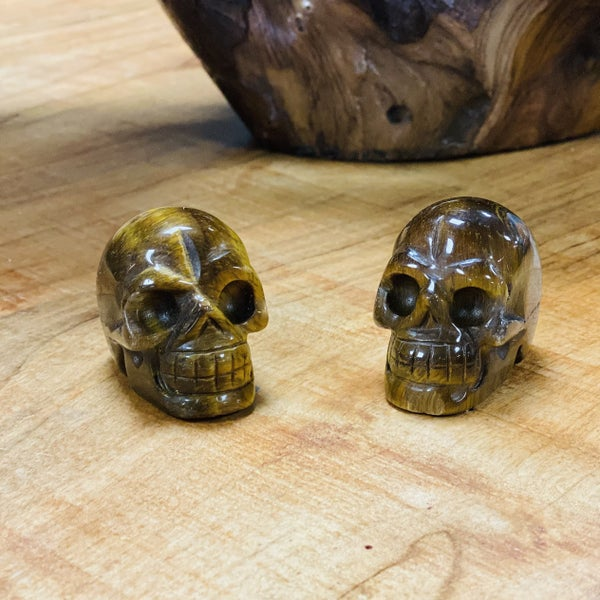 Tiger Eye Skulls - Small