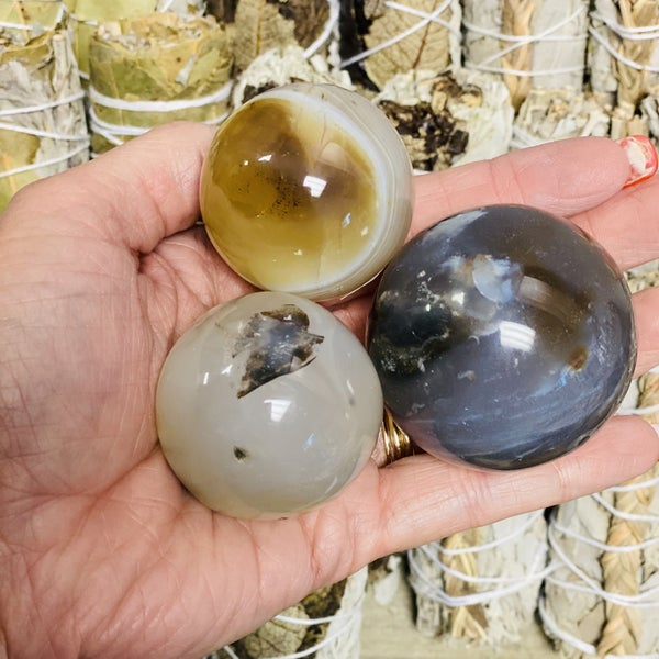 Dendritic Agate Spheres Small