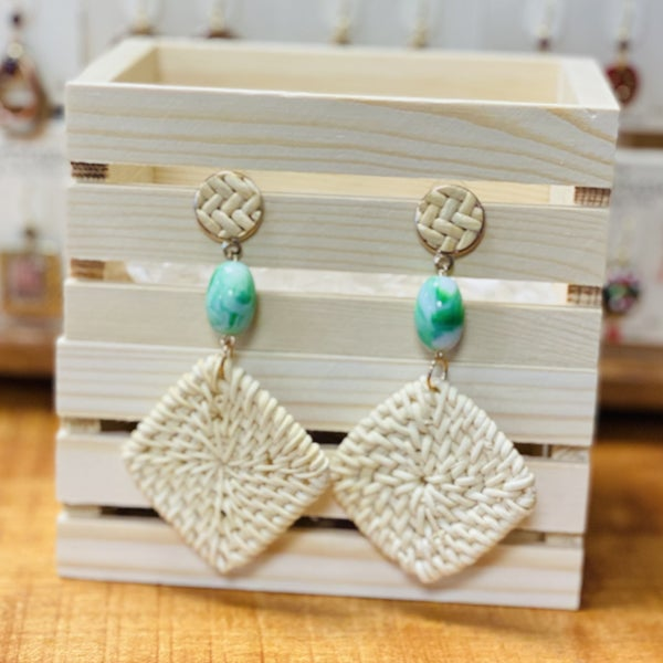 Square Woven Dangle Earring