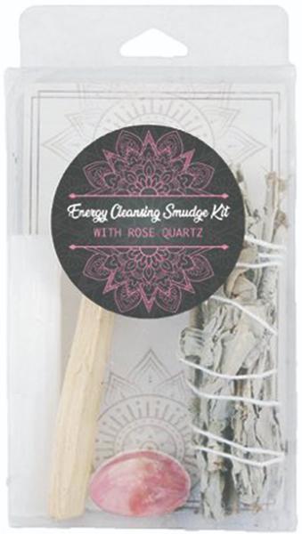 Energy Cleansing Smudge Kits - Rose Quartz