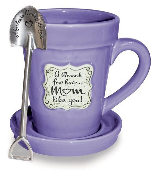 FLOWER POT MUG: VIOLET - MOM