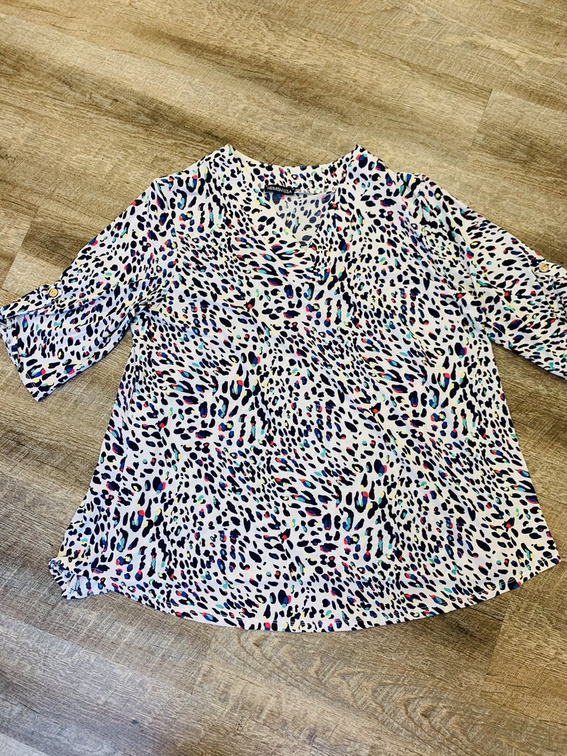 Ivory Neon Speckle Shirt