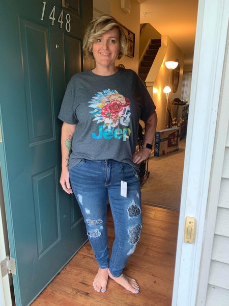 Judy Blue Denim Snake Skin Jean