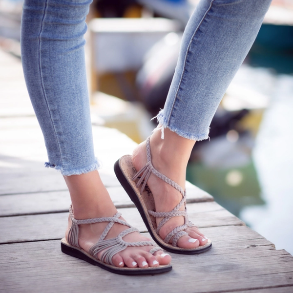 Palm Leaf Flat Summer Sandals
