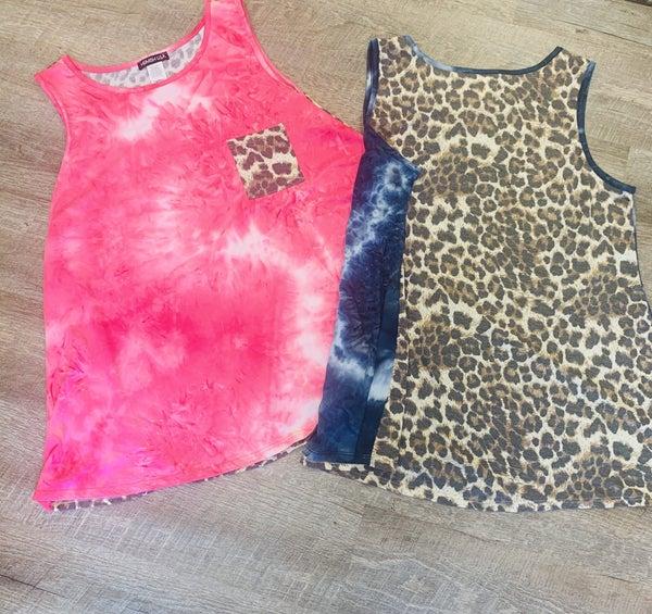 Tie Dye Cheetah Tank