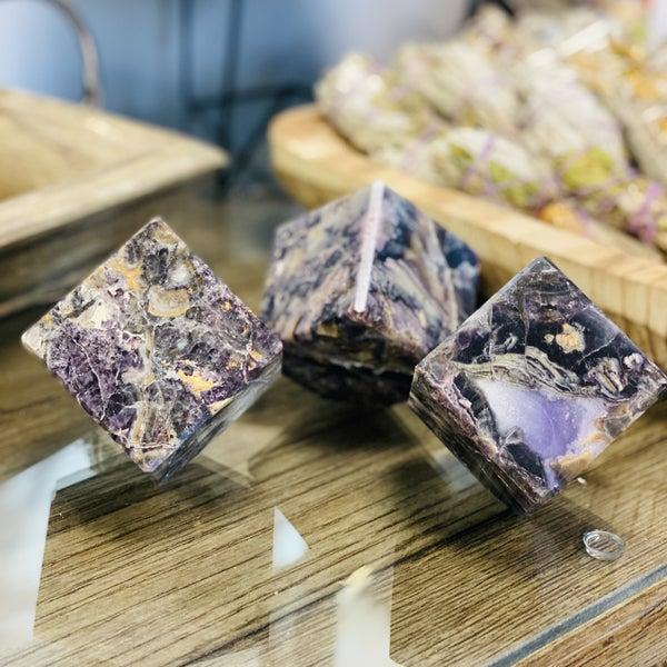 Velvet/Silky  Fluorite Cubes