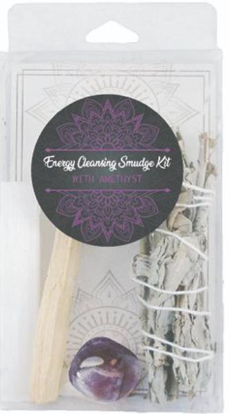 Energy Cleansing Smudge Kits - Rose Quartz - Amethyst