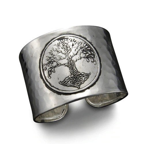 Silver Tree of Life Cuff