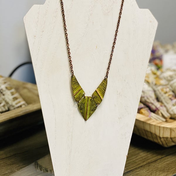 Embossed Patina Necklace 281