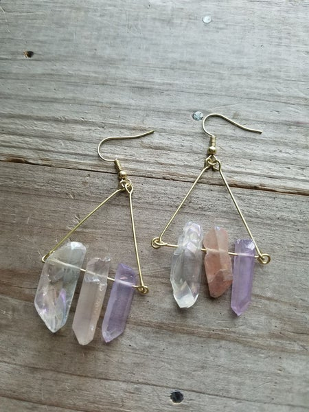 MIxed Quartz - Earring