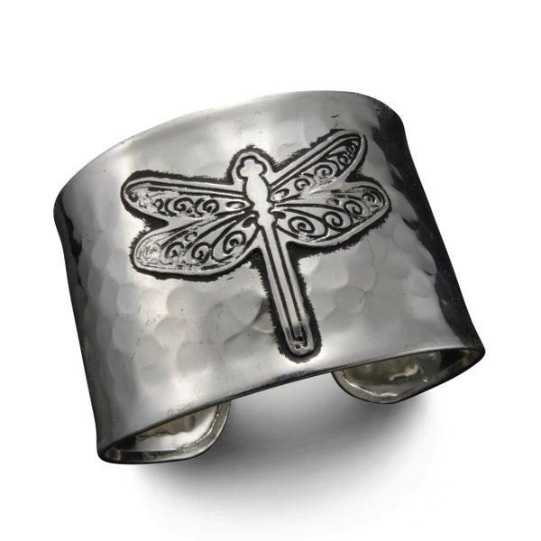 Silver Dragonfly Cuff